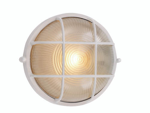 "Aria Collection 10"" Outdoor White Nautical Ship Themed Bulkhead Wall Light"