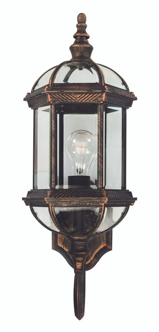 """Wentworth 22.25"""" Outdoor Black Copper Traditional Wall Lantern"""