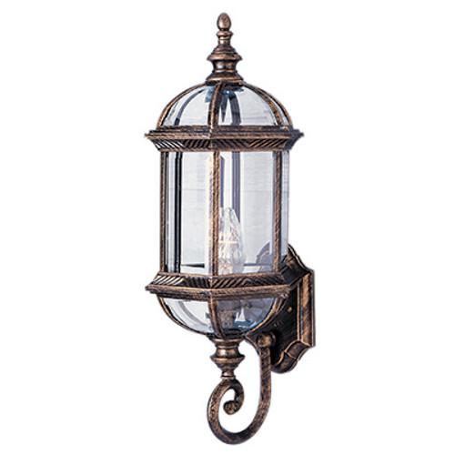 "Trans Globe Lighting 4180 BG 22.25"" Outdoor Black Gold Traditional Wall Lantern"