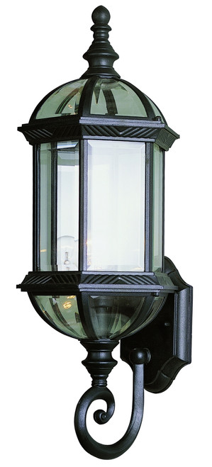 """Wentworth 22.25"""" Outdoor Black Traditional Wall Lantern"""
