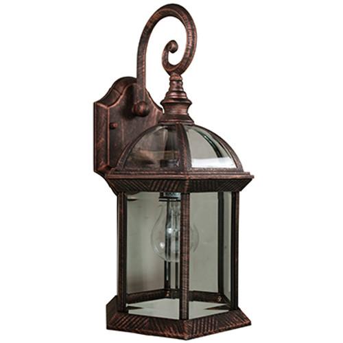 "Trans Globe Lighting 4181 BC 15.75"" Outdoor Black Copper Traditional Wall Lantern"