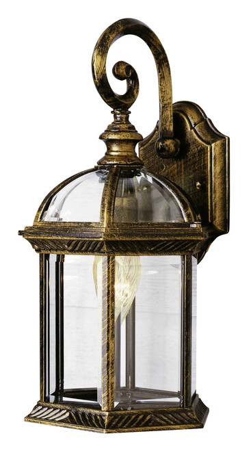"""Wentworth 15.75"""" Outdoor Black Gold Traditional Wall Lantern"""