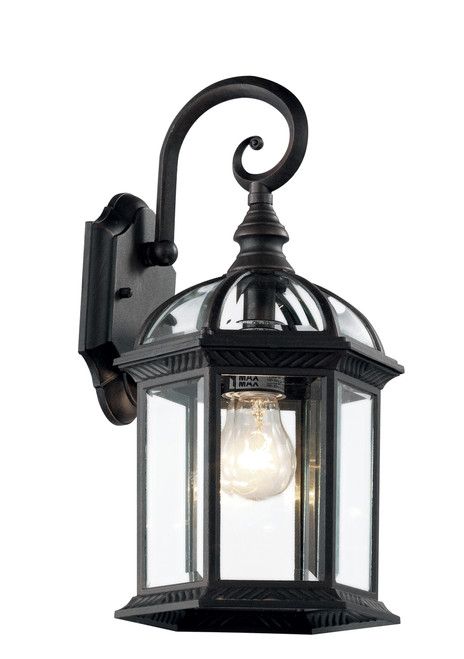 """Wentworth 15.75"""" Outdoor Black Traditional Wall Lantern"""