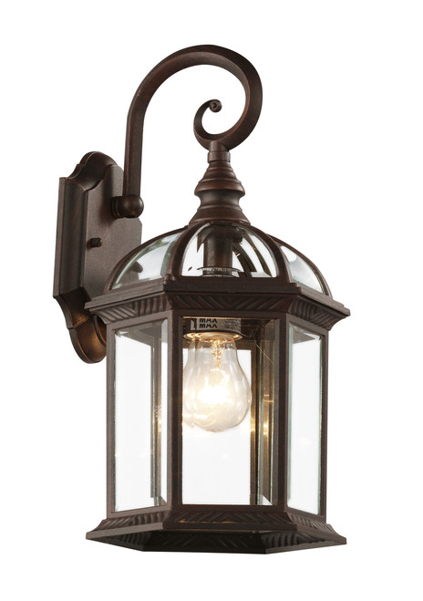 """Wentworth 15.75"""" Outdoor Rust  Traditional Wall Lantern"""