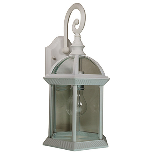 """Trans Globe Lighting 4181 WH 15.75"""" Outdoor White Traditional Wall Lantern"""