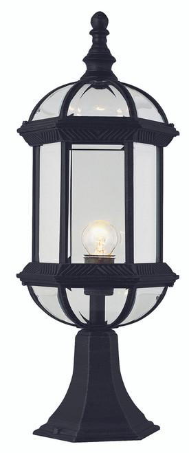 "Wentworth 21"" Outdoor Black Traditional Postmount Lantern"