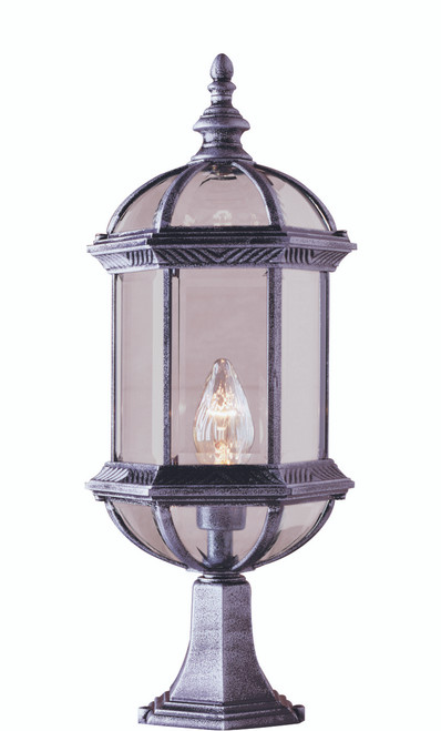 "Wentworth 21"" Outdoor Swedish Iron Traditional Postmount Lantern"
