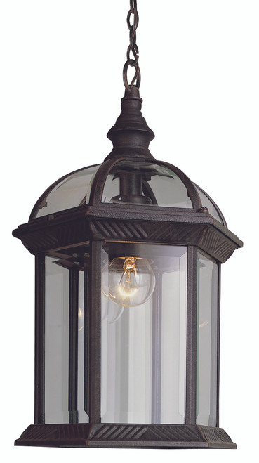 """Wentworth 17.5"""" Outdoor Rust  Traditional Hanging Lantern"""