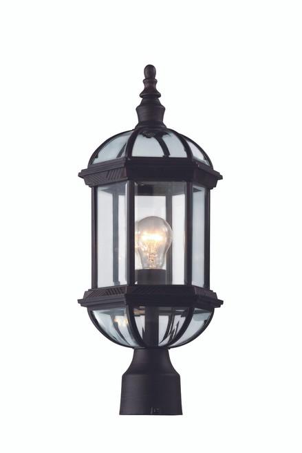 "Wentworth 19.75"" Outdoor Rust  Traditional Postmount Lantern"