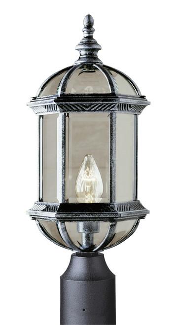 "Wentworth 19.75"" Outdoor Swedish Iron Traditional Postmount Lantern"