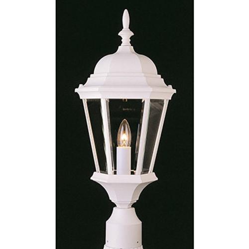 "Trans Globe Lighting 4260 WH 22"" Outdoor White Traditional Postmount Lantern"