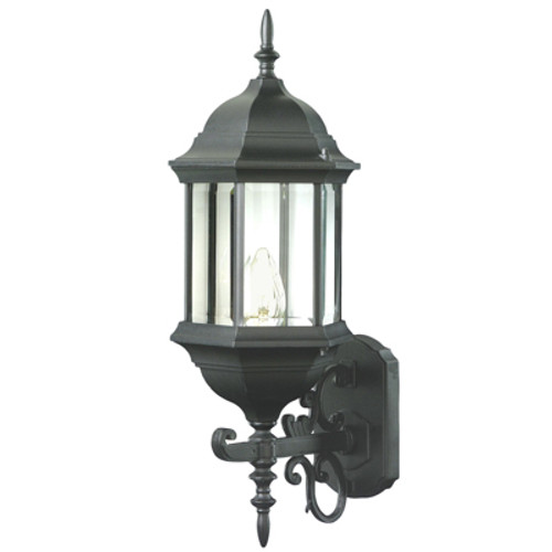 "Trans Globe Lighting 4351 BK 26"" Outdoor Black Colonial  Wall Lantern"