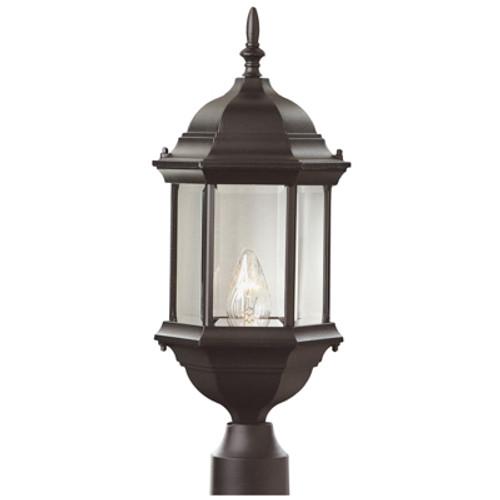 "Trans Globe Lighting 4352 BK 23"" Outdoor Black Colonial Postmount Lantern"
