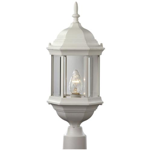 "Trans Globe Lighting 4352 WH 23"" Outdoor White Colonial  Postmount Lantern"