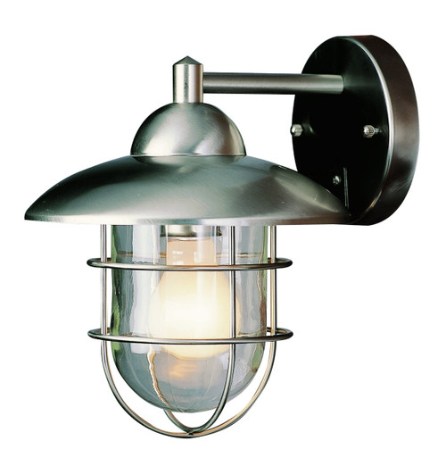 """Gull 12"""" Outdoor Steel Nautical Wall Lantern Made with Durable Stainless Steel"""