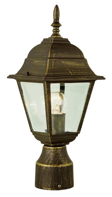 "Argyle 15"" Outdoor Black Gold Colonial  Postmount Lantern"