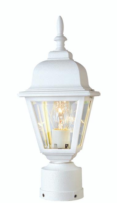 """Argyle 15"""" Outdoor White Colonial  Postmount Lantern"""