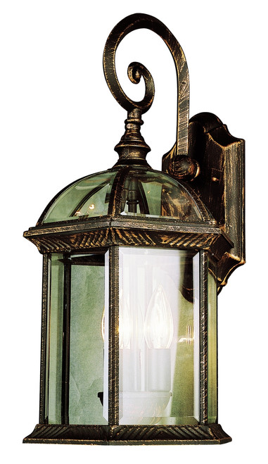 """Wentworth 19"""" Outdoor Black Copper Traditional Wall Lantern"""