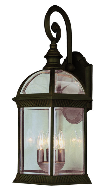 """Wentworth 19"""" Outdoor Rust Traditional Wall Lantern"""