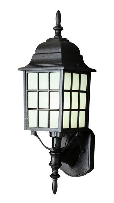"San Gabriel 19.5"" Outdoor Black Mission/Craftsman Wall Lantern"
