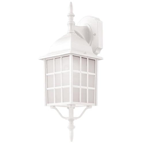 "Trans Globe Lighting 4420-1 WH 19.5"" Outdoor White Mission/Craftsman Wall Lantern"