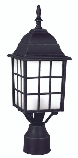 "San Gabriel 18.5"" Outdoor Black Mission/Craftsman Postmount Lantern"