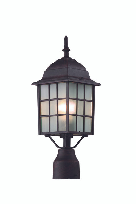 """San Gabriel 18.5"""" Outdoor Rust  Mission/Craftsman Postmount Lantern"""