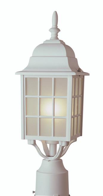 """San Gabriel 18.5"""" Outdoor White Mission/Craftsman Postmount Lantern"""
