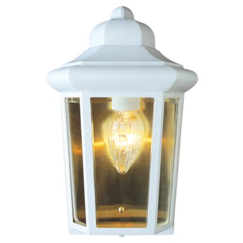 "Trans Globe Lighting 4483 WH 12"" Outdoor White Traditional Pocket Lantern"
