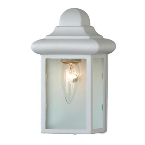 "Trans Globe Lighting 44835 WH 8.5"" Outdoor White Traditional Pocket Lantern"
