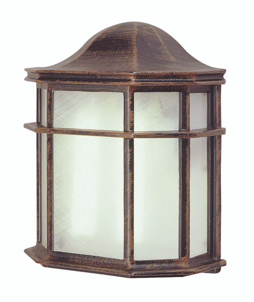 "Andrews 9.75"" Outdoor Rust Traditional Pocket Lantern"