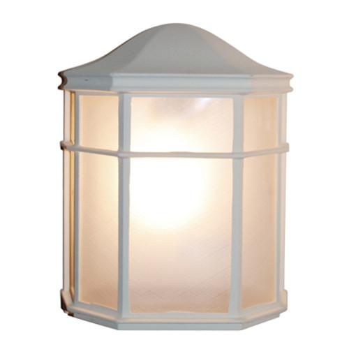 "Trans Globe Lighting 4484 WH 9.75"" Outdoor White Traditional Pocket Lantern"