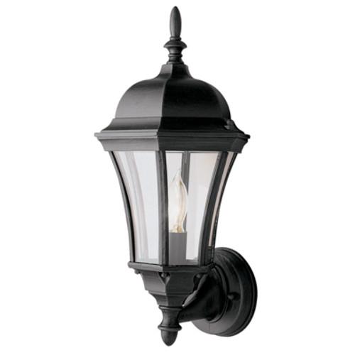 "Trans Globe Lighting 4502 BK 17"" Outdoor Black Traditional Wall Lantern"