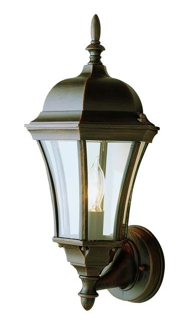 "Burlington 17"" Outdoor Rust Wall Lantern with Traditional Coach Design"