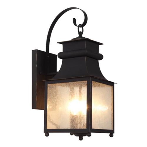 "Trans Globe Lighting 45631 WB 18"" Outdoor Weathered Bronze Mission/Craftsman Wall Lantern"