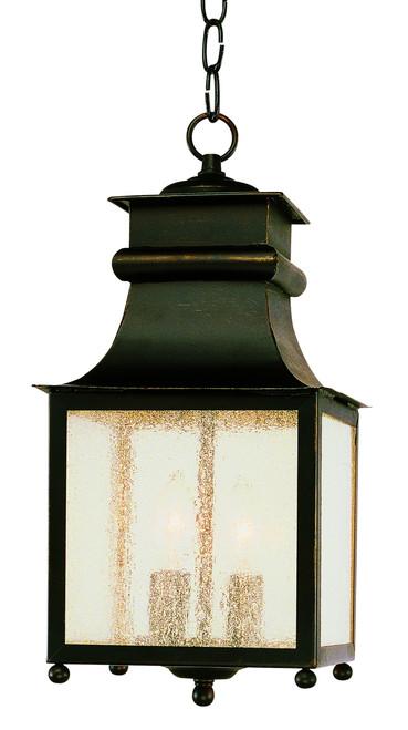 "Santa Ines 16.5"" Outdoor Weathered Bronze Mission/Craftsman Hanging Lantern"