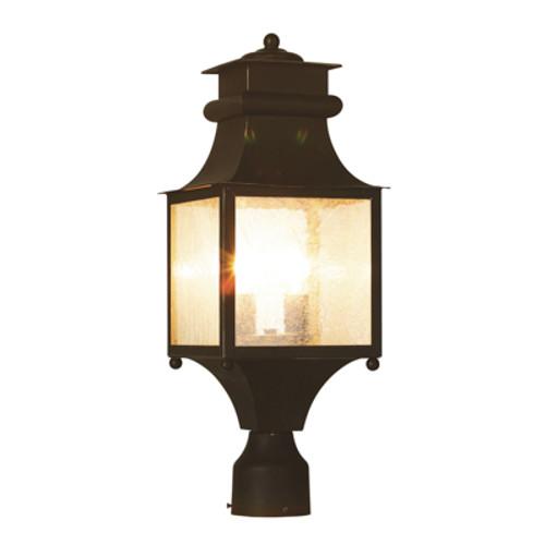 "Trans Globe Lighting 45634 WB 20.5"" Outdoor Weathered Bronze Mission/Craftsman Postmount Lantern"