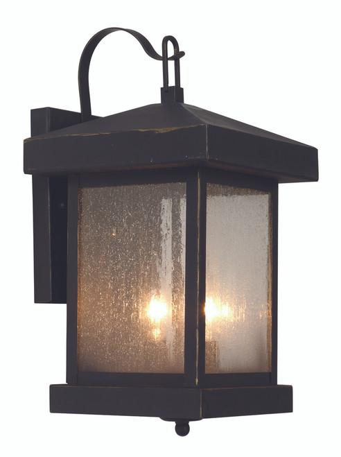 "Santa Cruz 14"" Outdoor Weathered Bronze Traditional Wall Lantern"