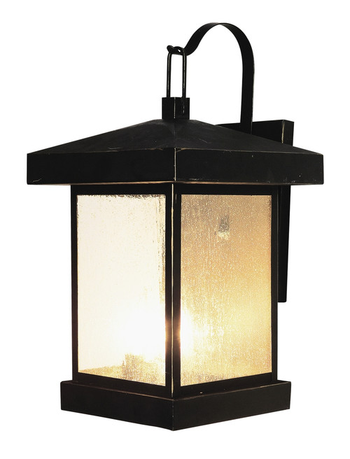 "Santa Cruz 18"" Outdoor Weathered Bronze Traditional Wall Lantern"