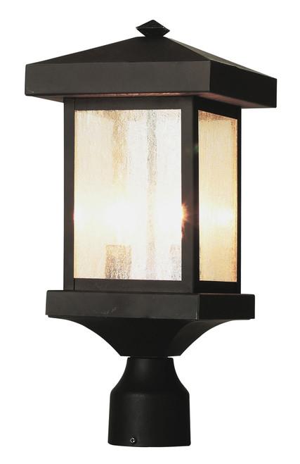 "Santa Cruz 17"" Outdoor Weathered Bronze Traditional Postmount Lantern"