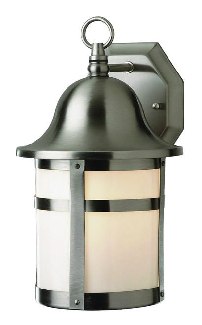 """Thomas 12.5"""" Outdoor Brushed Nickel Transitional  Wall Lantern"""