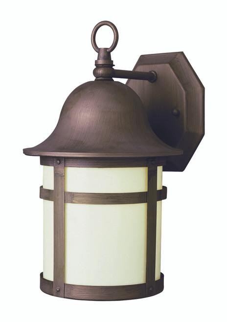 "Thomas 12.5"" Outdoor Weathered Bronze Transitional  Wall Lantern"