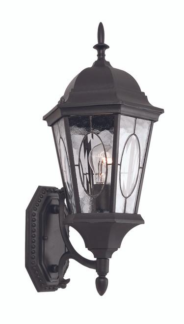 "Villa Nueva  21"" Outdoor Black Spanish Wall Lantern"