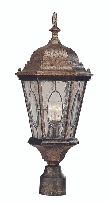 "Villa Nueva  22"" Outdoor Black Bronze Spanish Postmount Lantern"