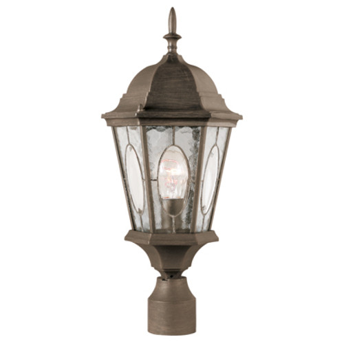 "Trans Globe Lighting 4716 RT 22"" Outdoor Rust Spanish Postmount Lantern"