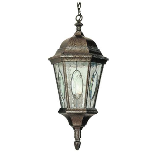 "Trans Globe Lighting 4717 BRZ 21"" Outdoor Black Bronze Spanish Hanging Lantern"
