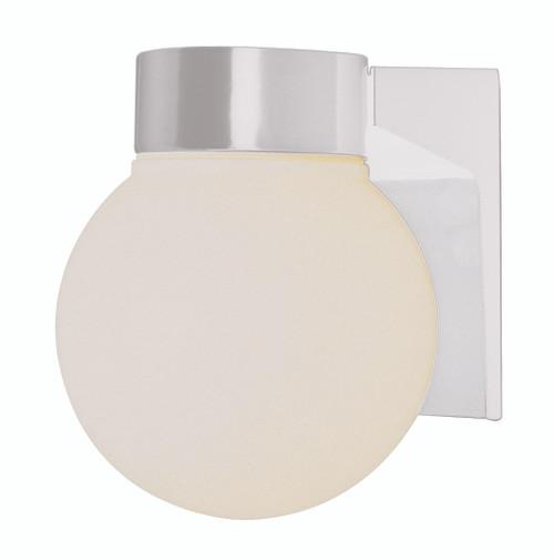 "Pershing 7"" Outdoor White Traditional Wall Lantern"