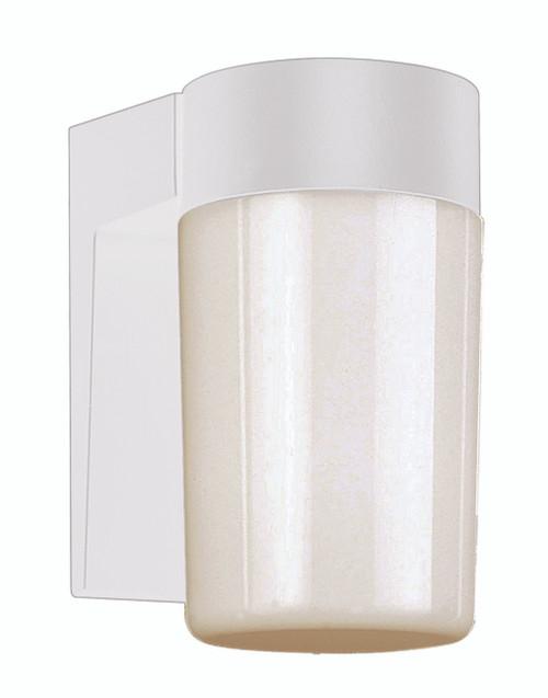 "Pershing 7.5"" Outdoor White Traditional Wall Lantern"