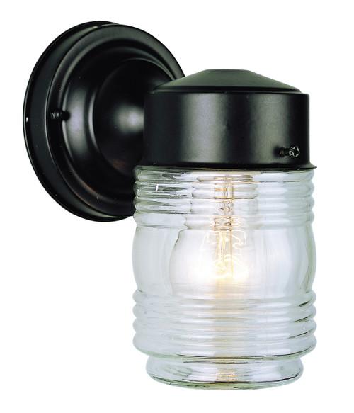 "Quinn 7"" Outdoor Black Traditional Wall Lantern"