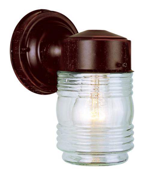 "Quinn 7"" Outdoor Rust Traditional Wall Lantern"